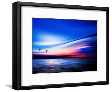 Blue Geese-Josh Adamski-Framed Art Print