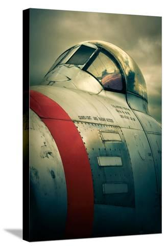 Sabre Cockpit-David Bracher-Stretched Canvas Print