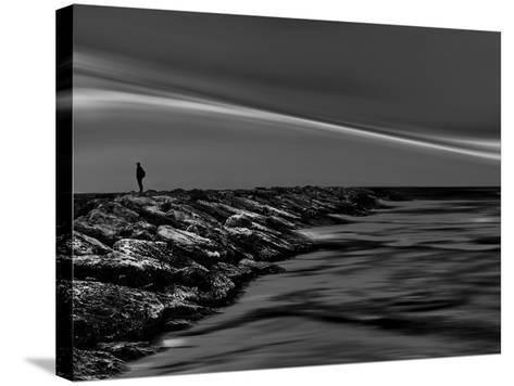 On the Rocks Bw-Josh Adamski-Stretched Canvas Print