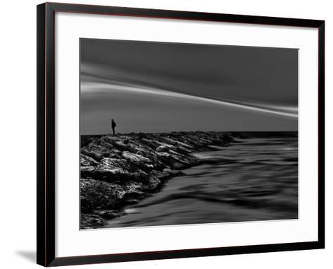 On the Rocks Bw-Josh Adamski-Framed Art Print