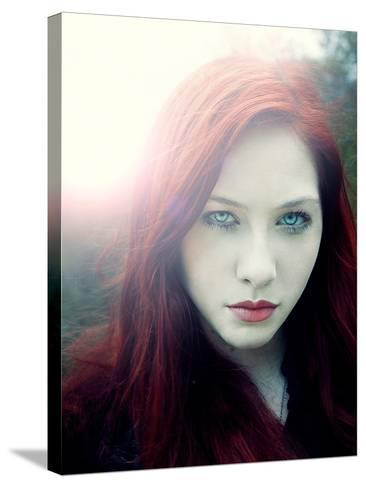Girl with Red Hair and Light Behind Her-Elizabeth May-Stretched Canvas Print