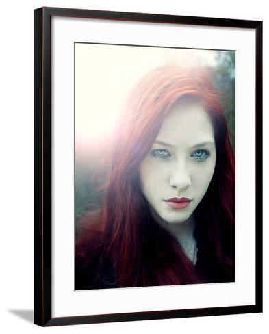 Girl with Red Hair and Light Behind Her-Elizabeth May-Framed Art Print