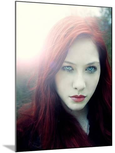 Girl with Red Hair and Light Behind Her-Elizabeth May-Mounted Photographic Print