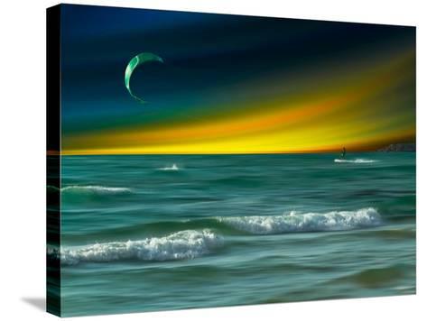 Green Surfer-Josh Adamski-Stretched Canvas Print