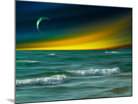 Green Surfer-Josh Adamski-Mounted Photographic Print