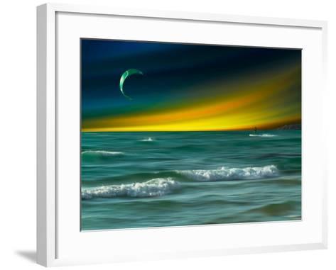Green Surfer-Josh Adamski-Framed Art Print