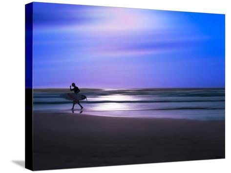 Blue Surfer II-Josh Adamski-Stretched Canvas Print