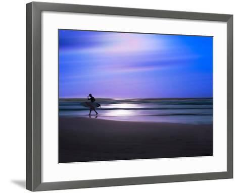 Blue Surfer II-Josh Adamski-Framed Art Print
