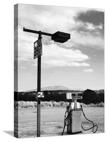 Gas Pump and New Mexico Landscape Sky, San Ysidro 2-Kevin Lange-Stretched Canvas Print
