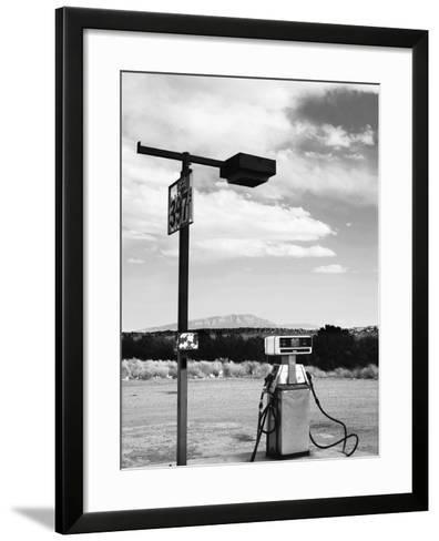 Gas Pump and New Mexico Landscape Sky, San Ysidro 2-Kevin Lange-Framed Art Print