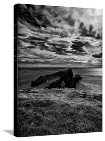 Watching Neist Point-Rory Garforth-Stretched Canvas Print