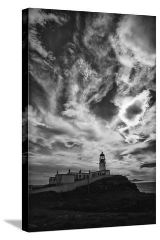 Light Change Over Lighthouse-Rory Garforth-Stretched Canvas Print