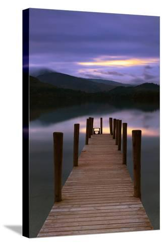 The Jetty-David Baker-Stretched Canvas Print