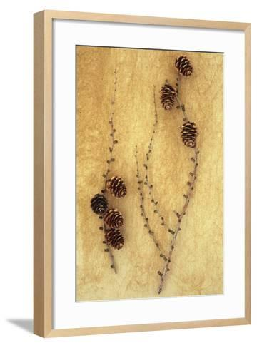 Two Twigs-Den Reader-Framed Art Print