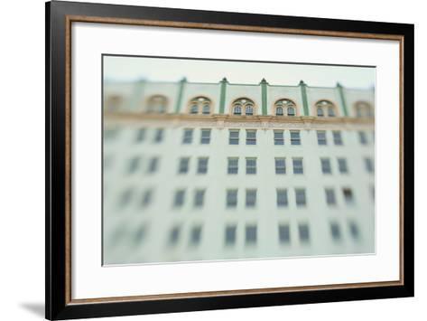 Surreal Shot of a 1920s Seafoam Green Art Deco Building-Jena Ardell-Framed Art Print
