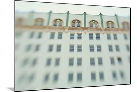 Surreal Shot of a 1920s Seafoam Green Art Deco Building-Jena Ardell-Mounted Photographic Print