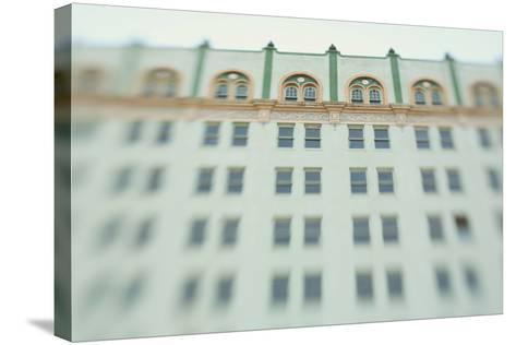 Surreal Shot of a 1920s Seafoam Green Art Deco Building-Jena Ardell-Stretched Canvas Print