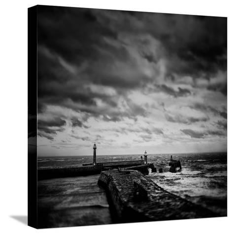 Whitby Blowing-Rory Garforth-Stretched Canvas Print