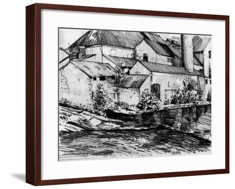 The Old Mill On the Exe-Tim Kahane-Framed Art Print