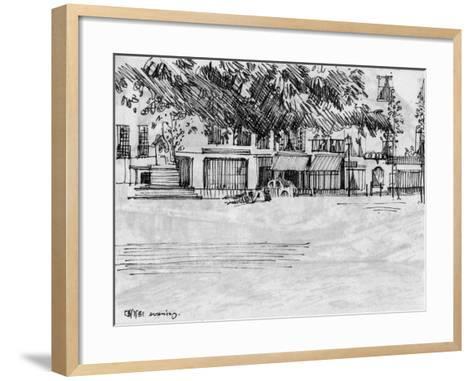 The Park-Tim Kahane-Framed Art Print