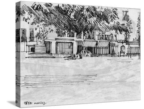 The Park-Tim Kahane-Stretched Canvas Print