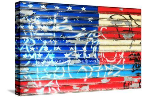 American Flag Graffiti-Sabine Jacobs-Stretched Canvas Print