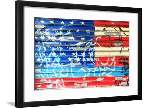 American Flag Graffiti-Sabine Jacobs-Framed Art Print