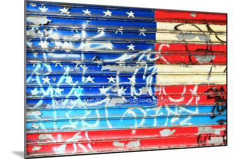 American Flag Graffiti-Sabine Jacobs-Mounted Photographic Print
