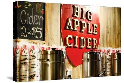 Big Apple Cider for Sale at the Christmas Market in Bryant Park,-Sabine Jacobs-Stretched Canvas Print