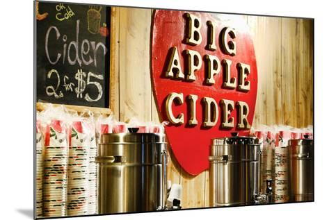 Big Apple Cider for Sale at the Christmas Market in Bryant Park,-Sabine Jacobs-Mounted Photographic Print