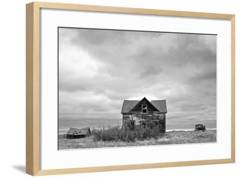 Abandoned House and Truck-Rip Smith-Framed Art Print