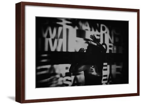 Abstract Image of Female Figure-Rory Garforth-Framed Art Print