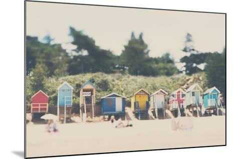 Beach Huts in England-Laura Evans-Mounted Photographic Print