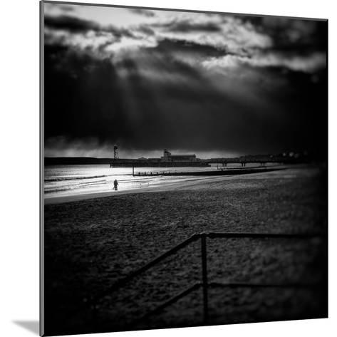 Beach Scene in England with Pier-Rory Garforth-Mounted Photographic Print