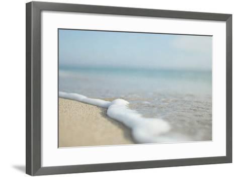 Dreamy Blue and White Ocean-Elizabeth Urqhurt-Framed Art Print