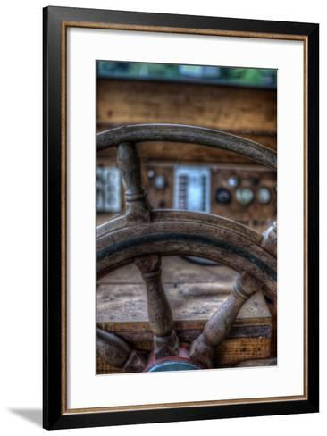 Old Boat Steering Wheel-Nathan Wright-Framed Art Print