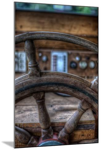 Old Boat Steering Wheel-Nathan Wright-Mounted Photographic Print