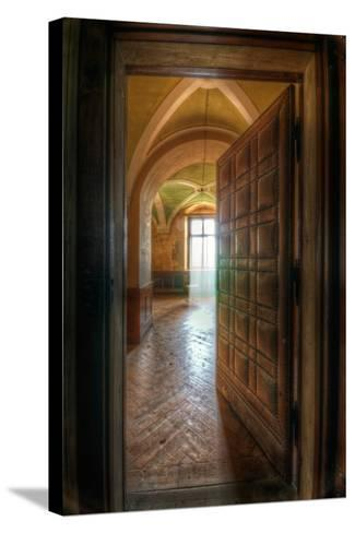 Studded Door-Nathan Wright-Stretched Canvas Print