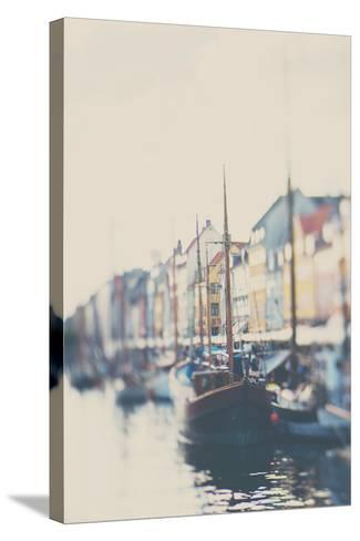 Danish Harbour-Laura Evans-Stretched Canvas Print