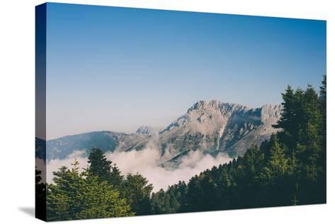 Mountains in Greece-Clive Nolan-Stretched Canvas Print