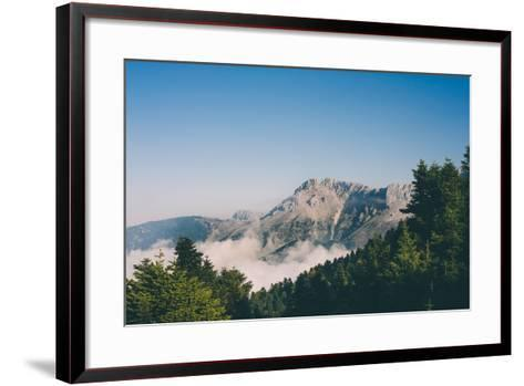 Mountains in Greece-Clive Nolan-Framed Art Print