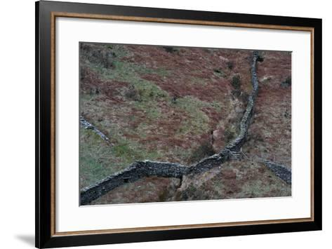 Wall in Remote Location in England-Clive Nolan-Framed Art Print