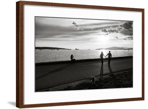 Figure in the Distance in Landscape-Sharon Wish-Framed Art Print