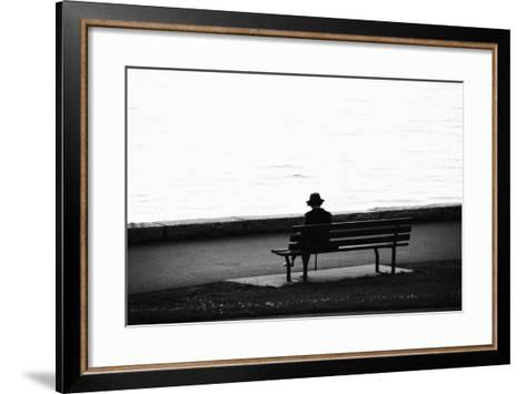 Figure in the Distance in Landscape-Sharon Wish-Framed Art Print