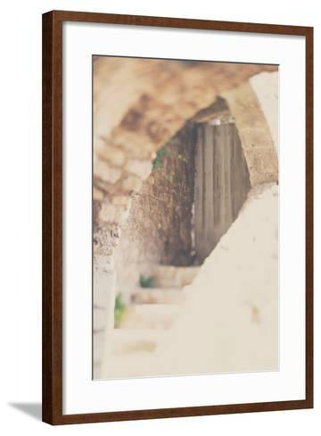 French Building with Doorway-Laura Evans-Framed Art Print