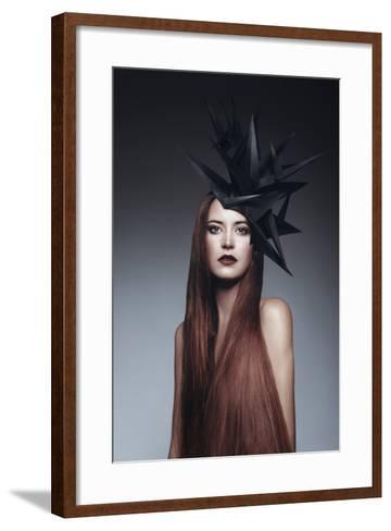 Female Model with Long Red Hair-Luis Beltran-Framed Art Print