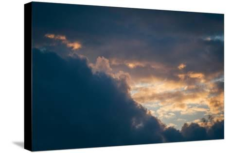 Stormy Sunset-Clive Nolan-Stretched Canvas Print