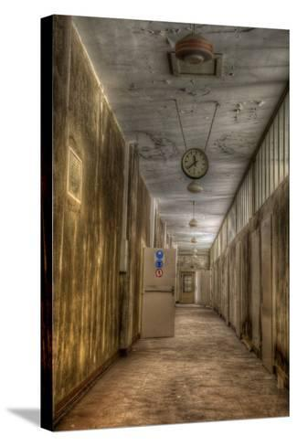 Derelict Interior with Clock-Nathan Wright-Stretched Canvas Print