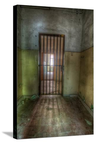Cell with Metal Door-Nathan Wright-Stretched Canvas Print
