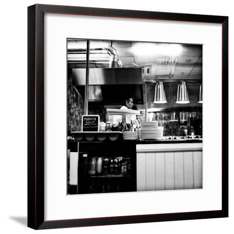 Chef in Restaurant-Rory Garforth-Framed Art Print